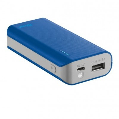 PowerBank TRUST Primo 4400 Portable Charger Blue - 21225