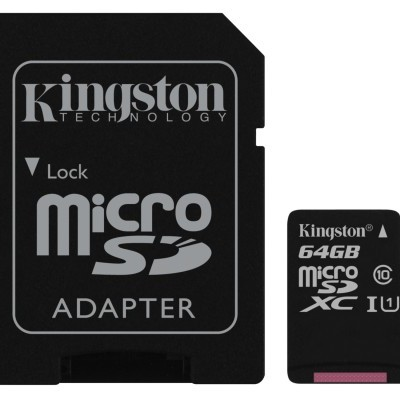 MicroSD Kingston Canvas Select SDCS 64GB class10 UHS-I SDXC(80MB/s-10MB/s)