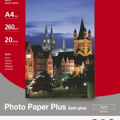 Photo Paper Plus Semi-gloss / A4 / Caixa 20 Folhas / 260 Grs. - 1686B021