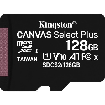 MicroSD Kingston Canvas Select Plus 128GB class10 UHS-I SDHC(100MB/s-85MB/s)