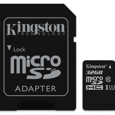 MicroSD Kingston Canvas Select SDCS 32GB class10 UHS-I SDHC(80MB/s-10MB/s)