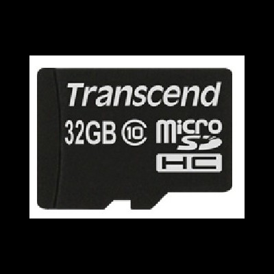 Micro SD TRANSCEND 32GB Class10 c/ adapt SD - TS32GUSDHC10