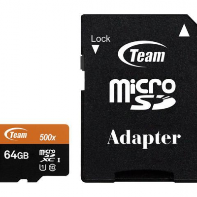 Micro SD Team Group 64GB class 10 /adapt - TUSDX64GUHS03