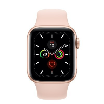 Apple Watch Series 5 GPS, 40mm Gold Aluminium Case c/ Pink Sand Sport Band