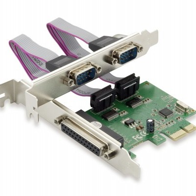 Placa CONCEPTRONIC PCI Express Card 1-Port Parallel & 2-Port Serial - SPC01G