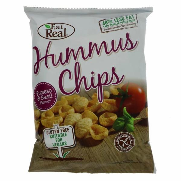 Humus Chips Tomate e Manjericão | Eat Real135 grs