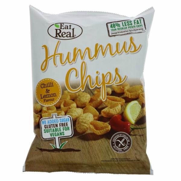 Hummus Chips com Chilli e Limão  45 grs | Eat Real