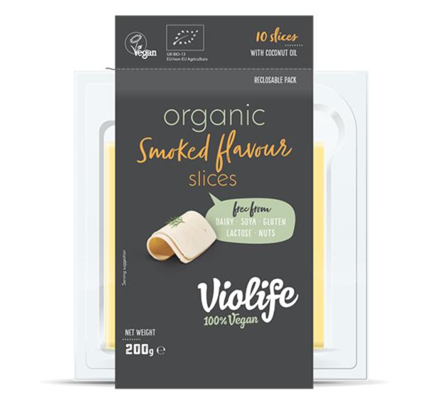 Queijo Organico Fumado fatiado 200 grs | Violife