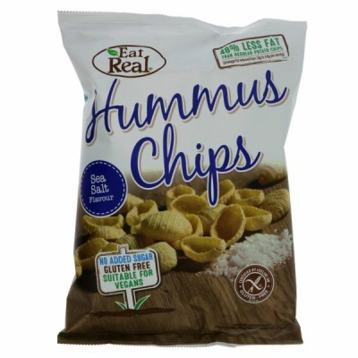 Hummus Chips com sal 45 grs | Eat Real