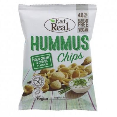 Hummus Chips c/sabor a Creme Azedo e Cebolinha