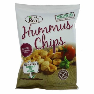 Humus Chips Tomate e Manjericão | Trafo 45 grs