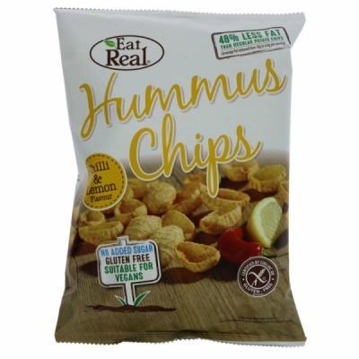 Hummus Chips com Chilli e Limão  | Eat Real 135 grs