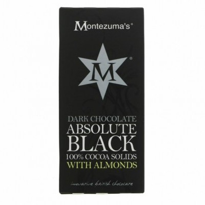 Chocolate Absolute Black com amêndoas / Montezumas