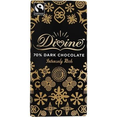 CHOCOLATE NEGRO 70% 100GRS   DIVINE