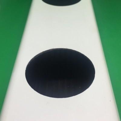 1 metro Perfil Hidropónico PVC Furado de 80 mm