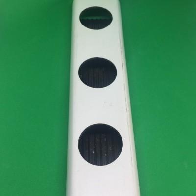 2 metros Perfil Hidropónico PVC Furado de 49 mm