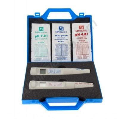 Maletín pH + EC + Temperatura