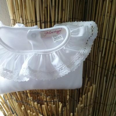 Camisola Gola Renda Branca