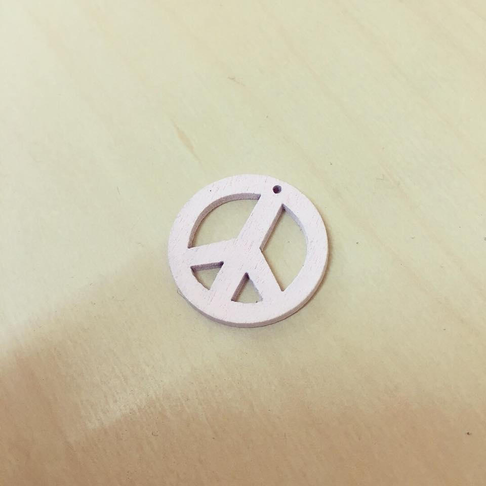 Símbolo Paz Madeira Rosa