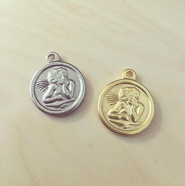 Medalha Anjo Pesada Aço