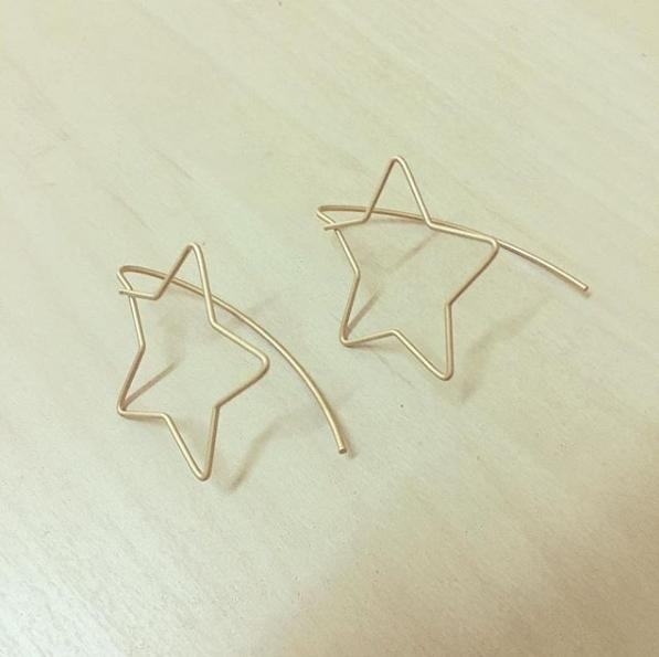 Brincos Estrelas em Contorno