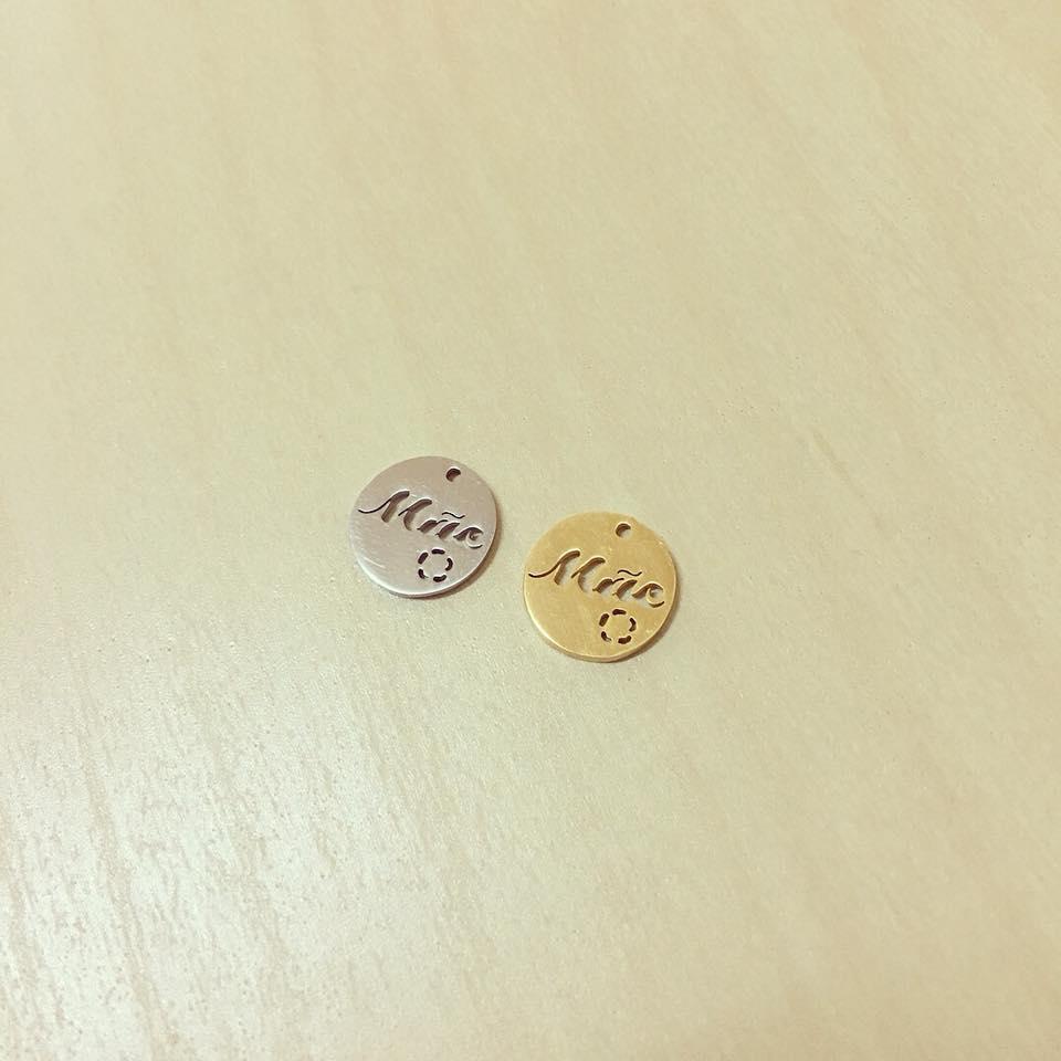 Mini Medalha Mãe Aço
