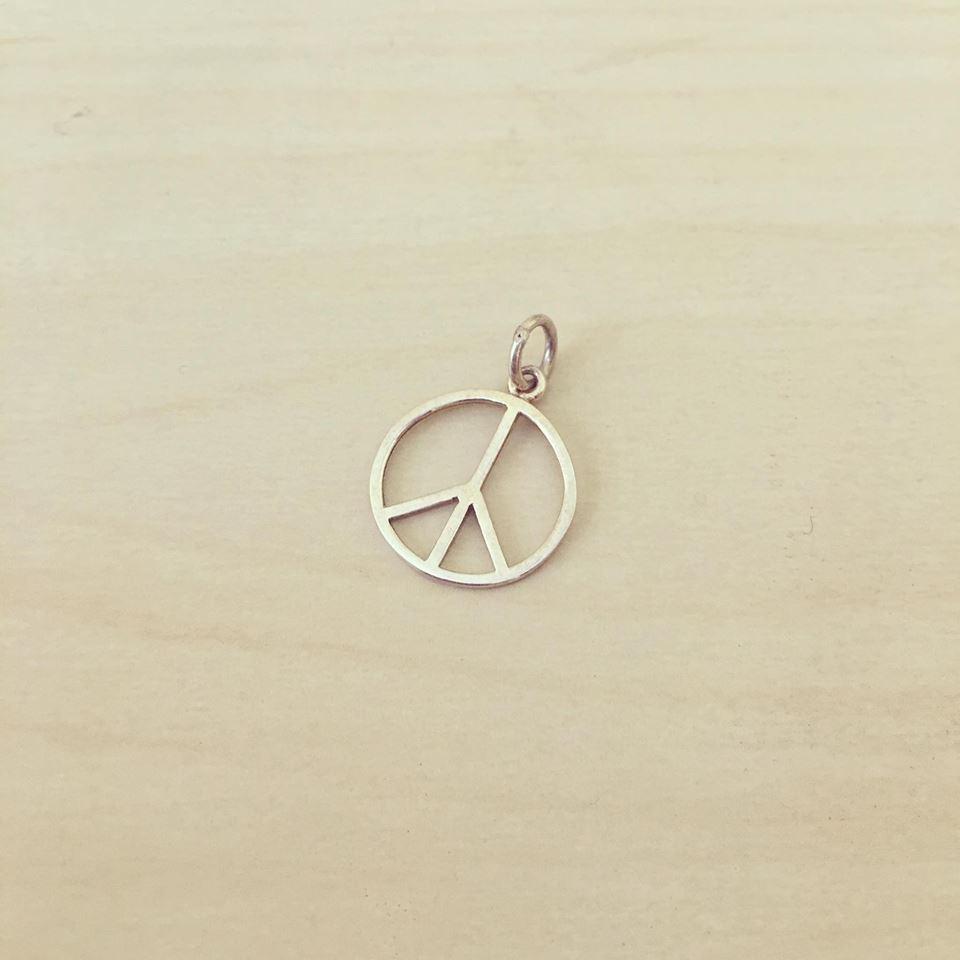 Símbolo da Paz Grande Prata