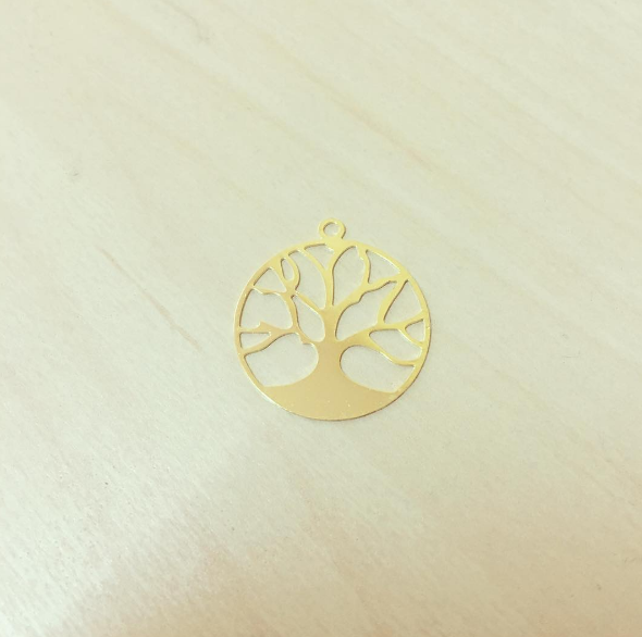 Árvore da Vida Circular Dourada