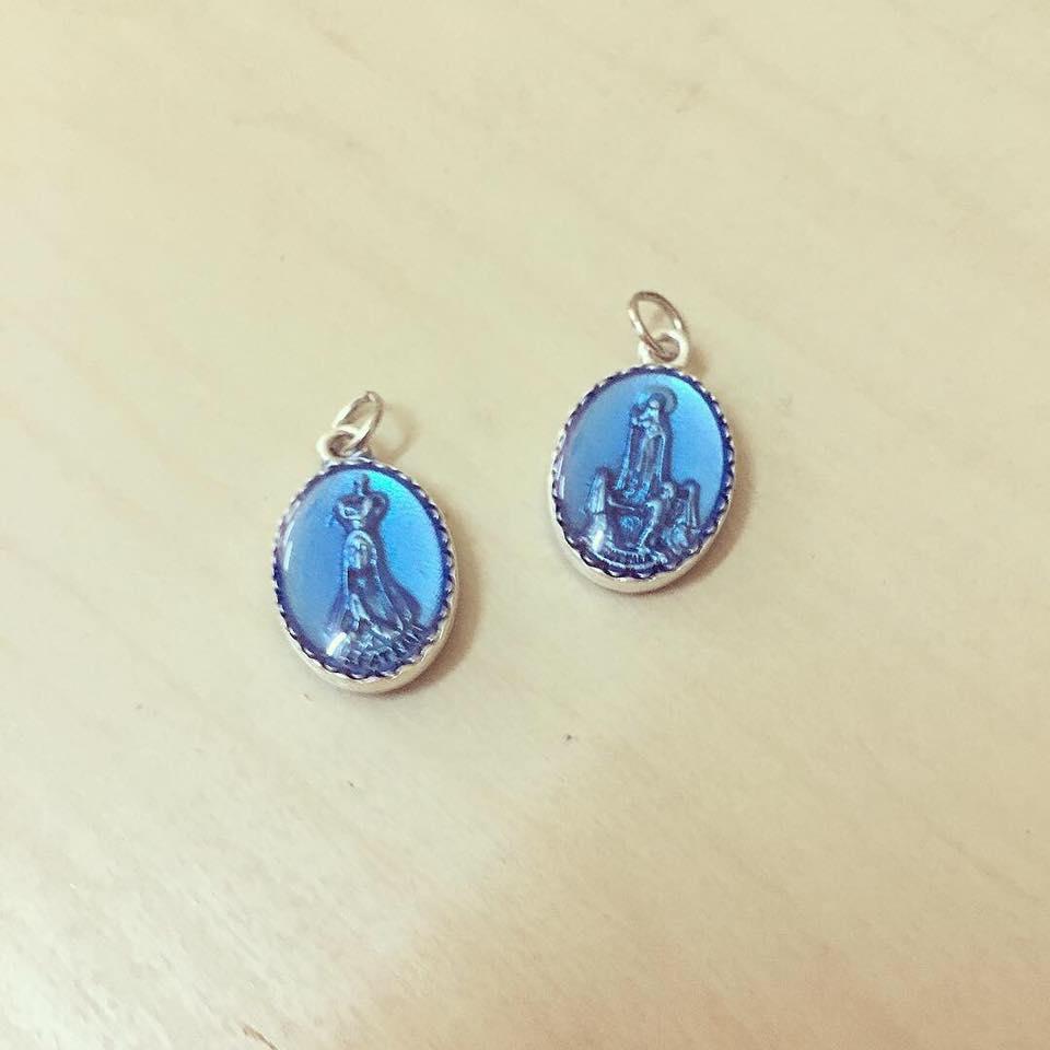Medalha Oval Nossa Senhora Azul