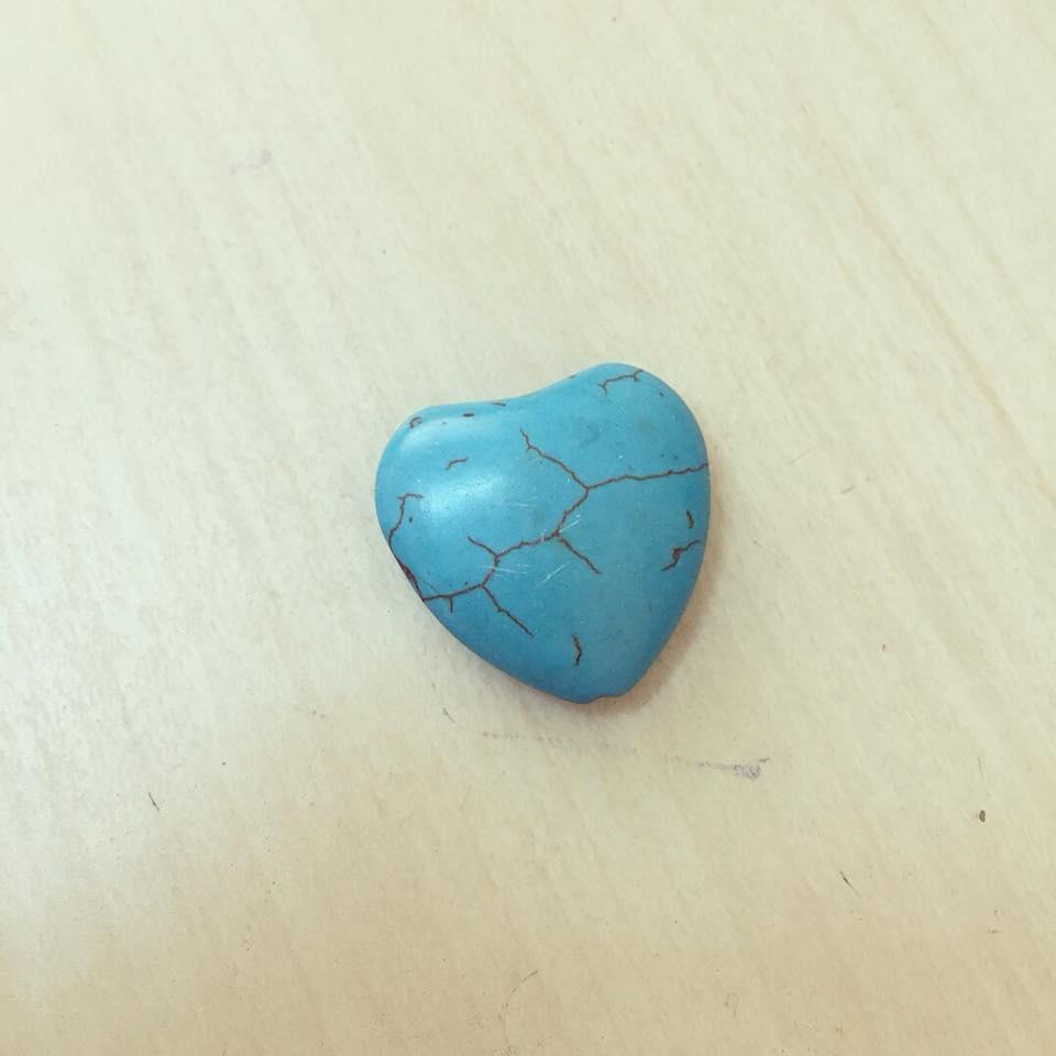 Coração Turquesa em Howlite