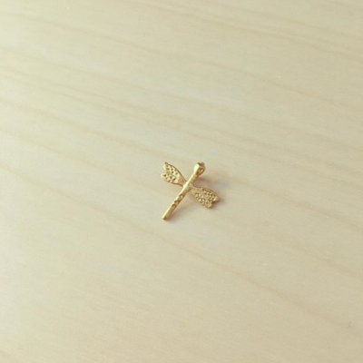 Libelinha Pequena Dourada Mate