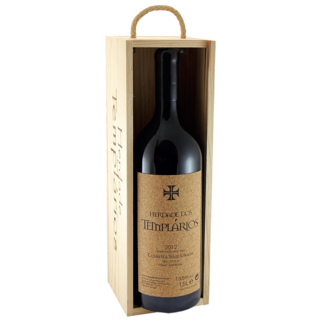 Caixa de madeira com 1 vinho tinto gfa Magnum 1,5L