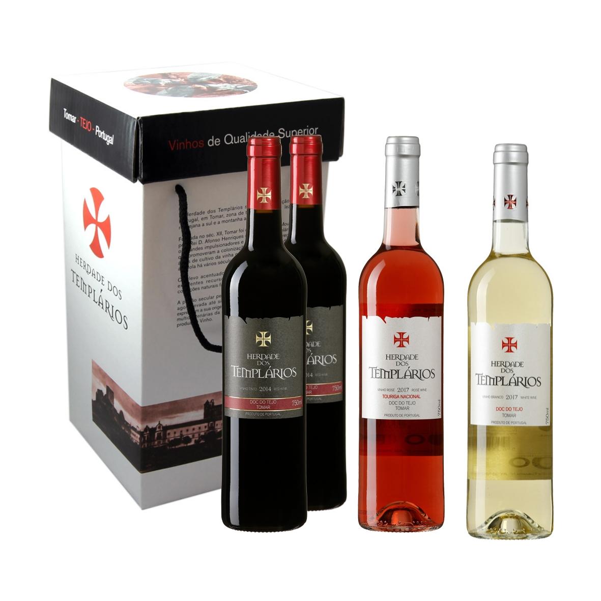 Caixa cartão mista com 4 vinhos