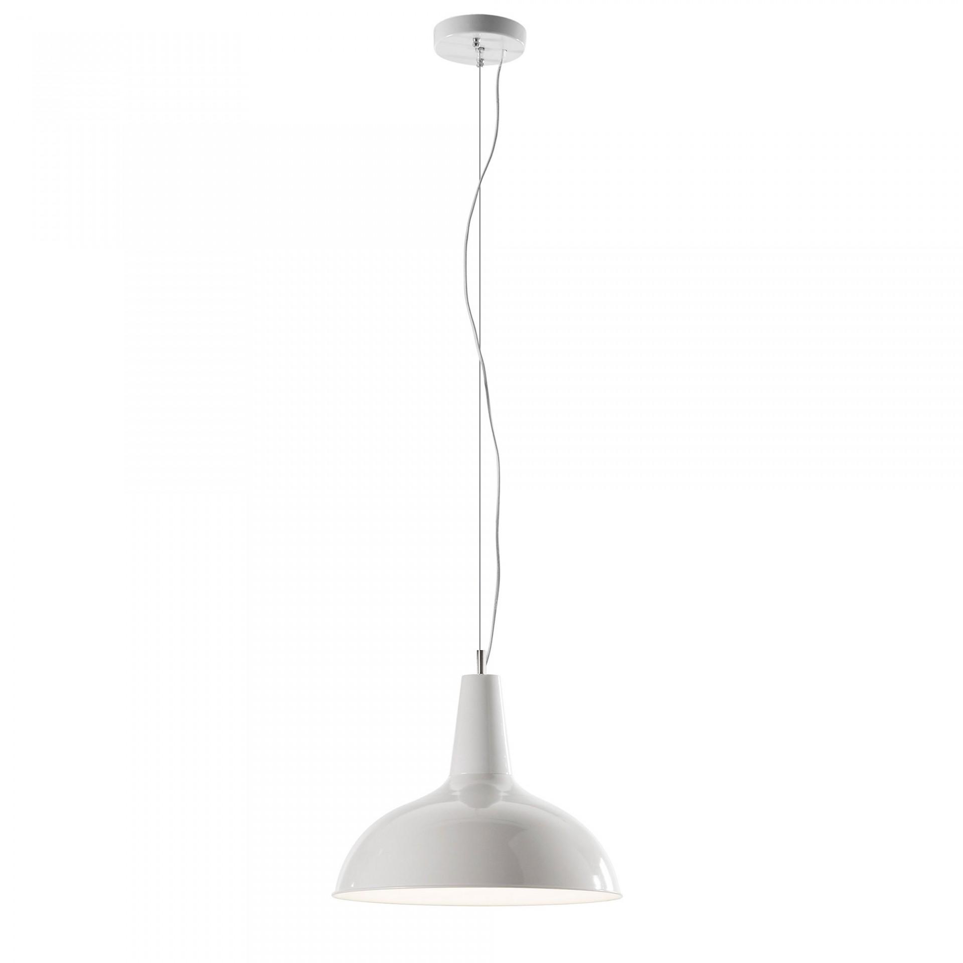 Candeeiro de tecto, metal, branco, Ø41x33 cm
