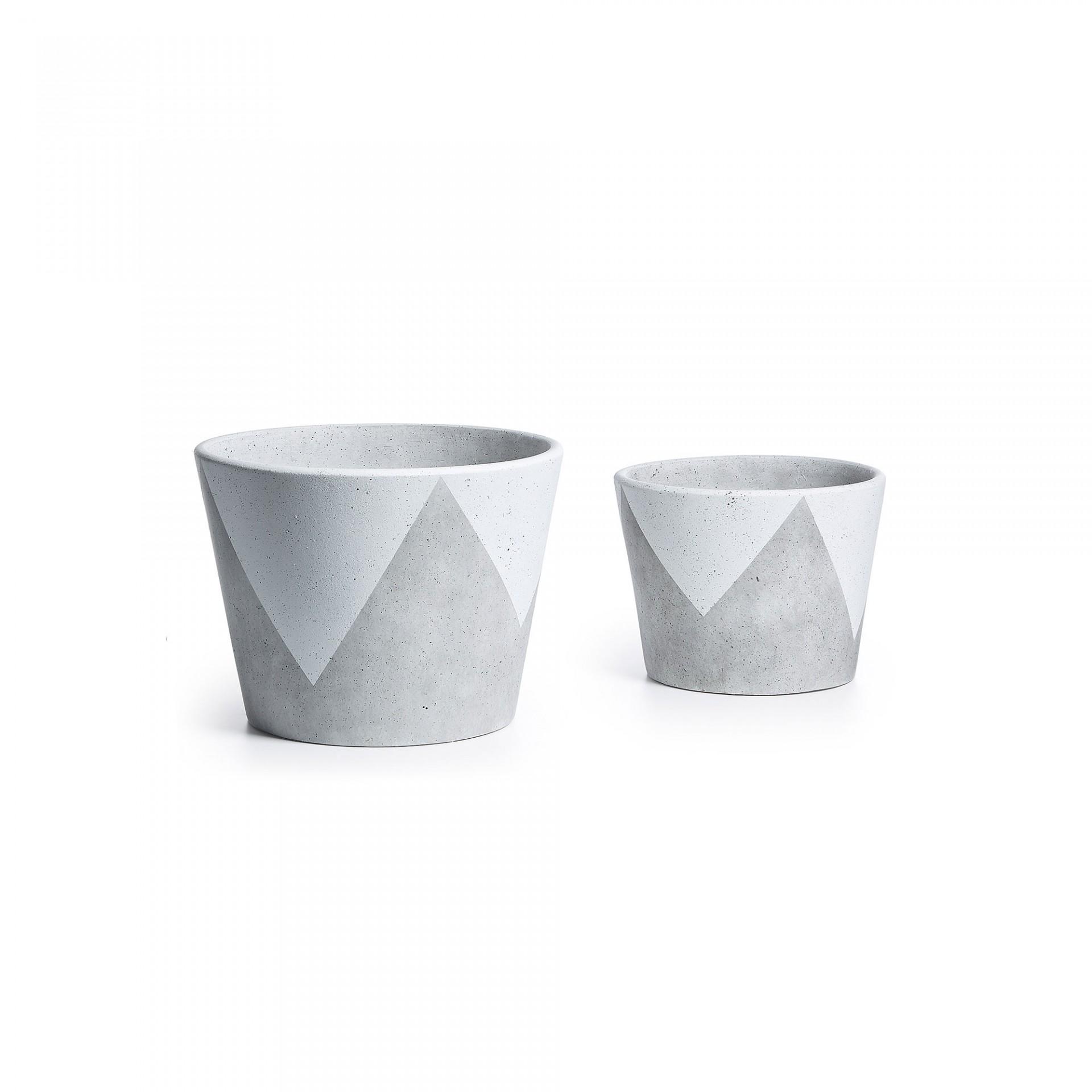 Vasos Geo, cerâmica, (Conj.2)
