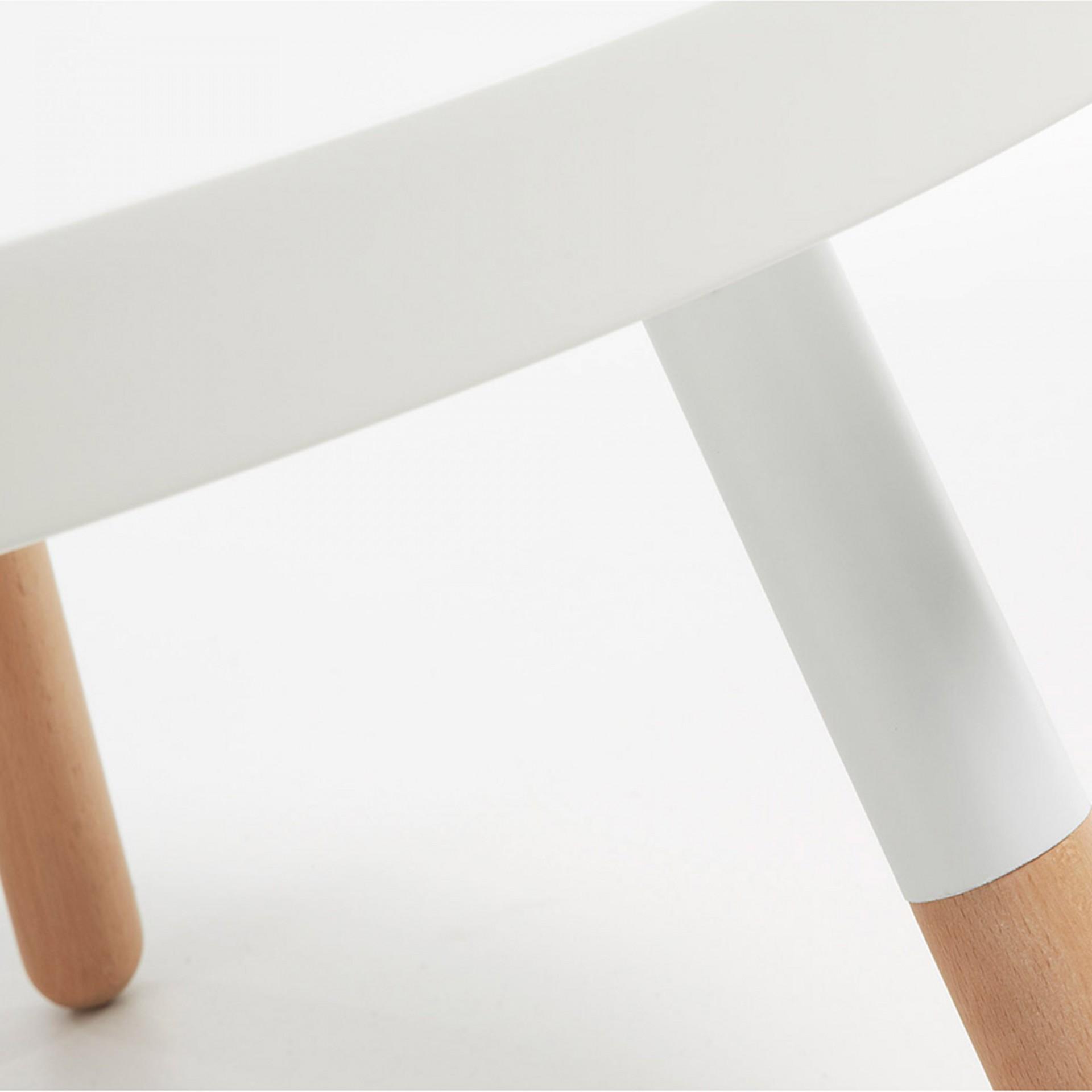 Mesa de centro em madeira faia, Ø80x45 cm