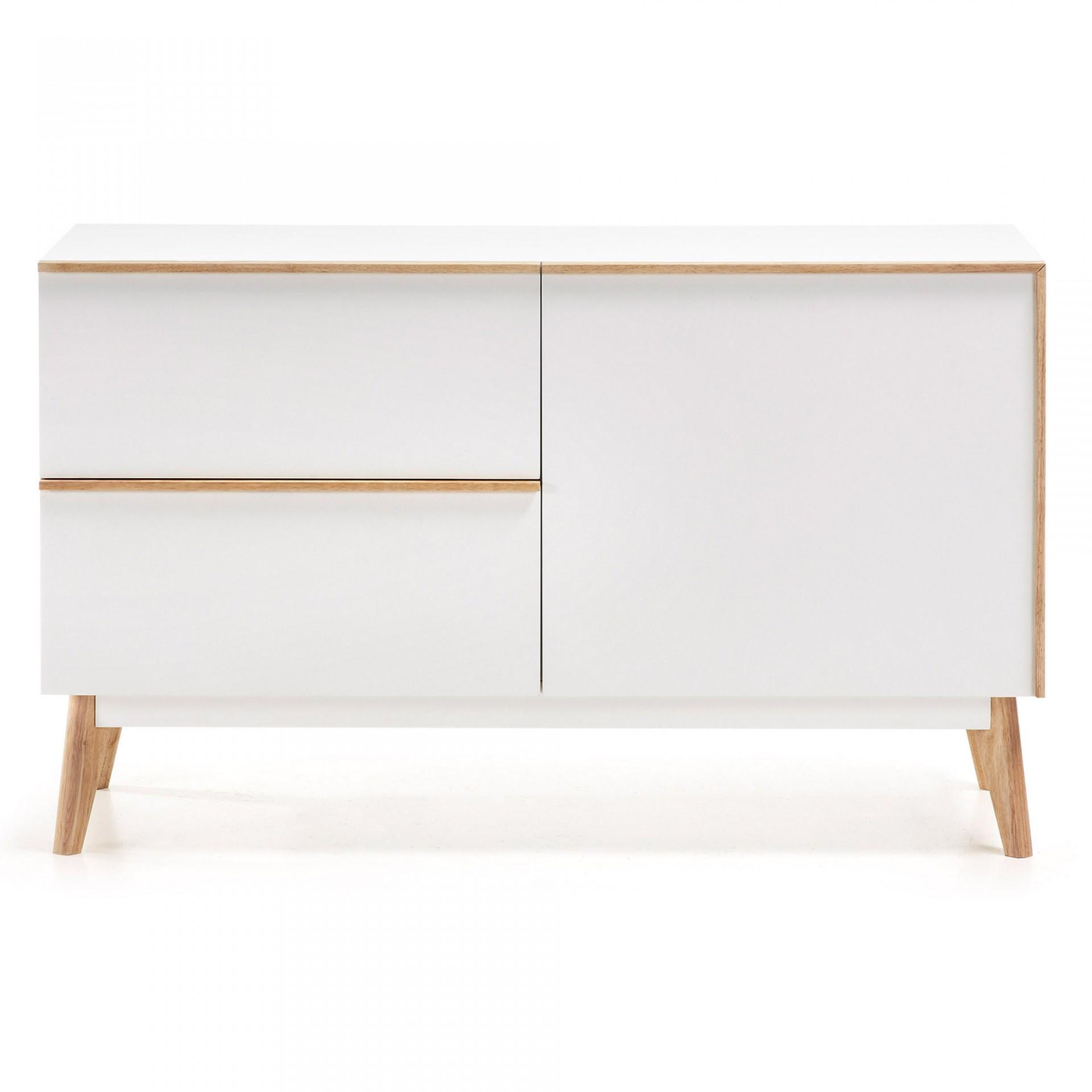 Aparador em madeira de carvalho/MDP lacado, 72x120 cm