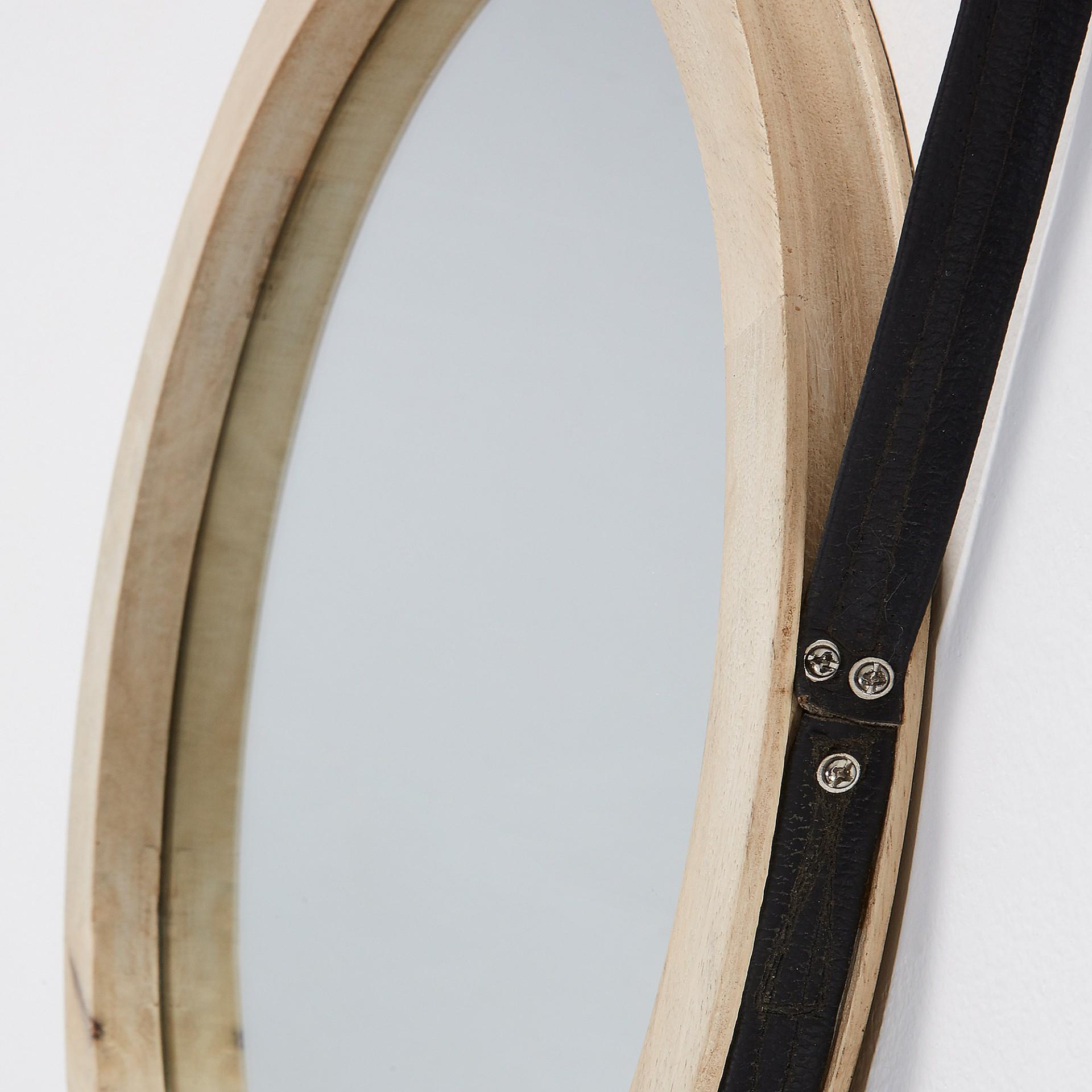 Espelho Gui, madeira manga, Ø40 cm