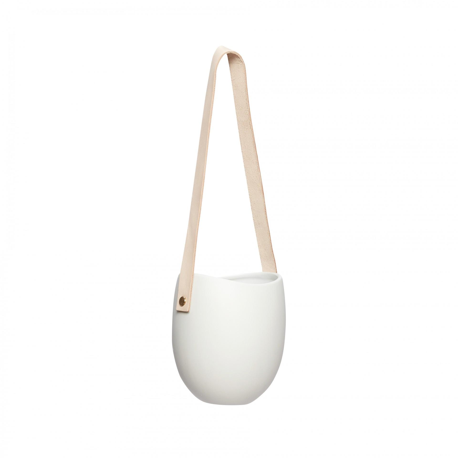 Vaso p/suspender, cerâmica, Ø12x15 cm