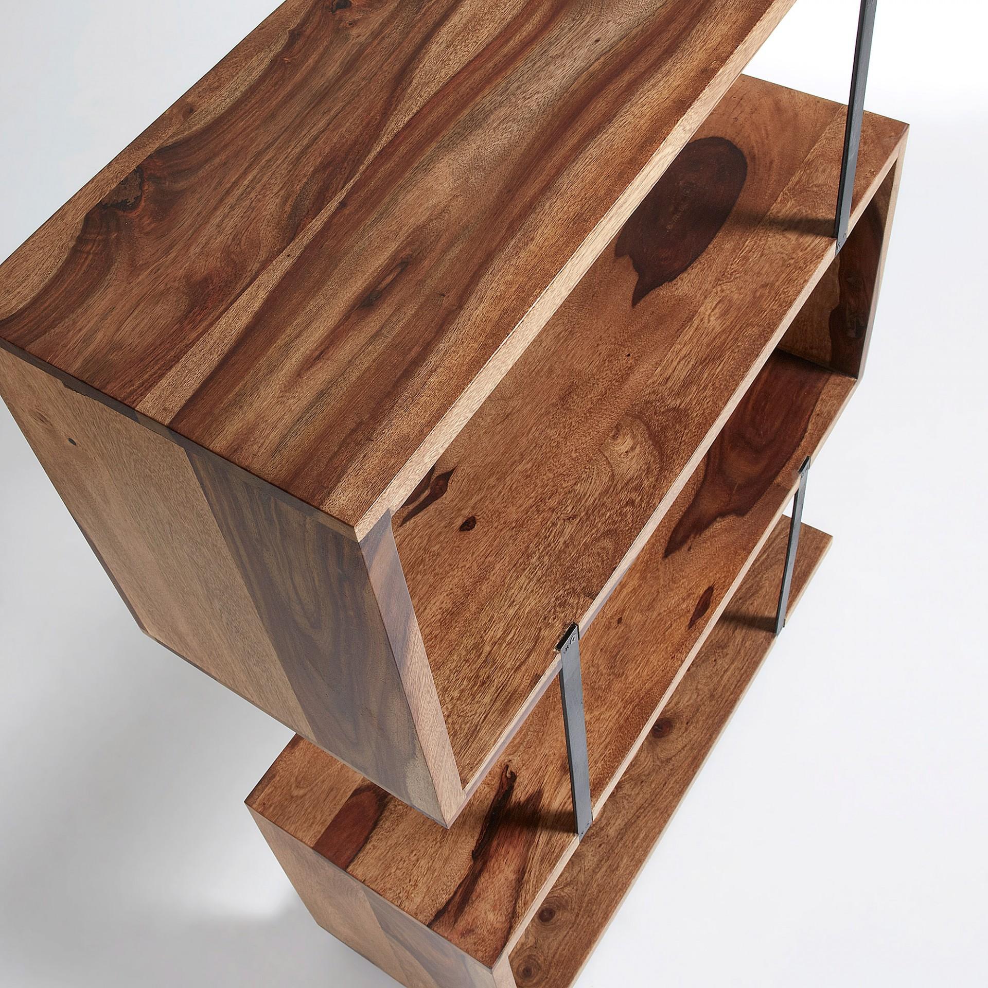 Estante em madeira de sheesham natural, 80x115 cm