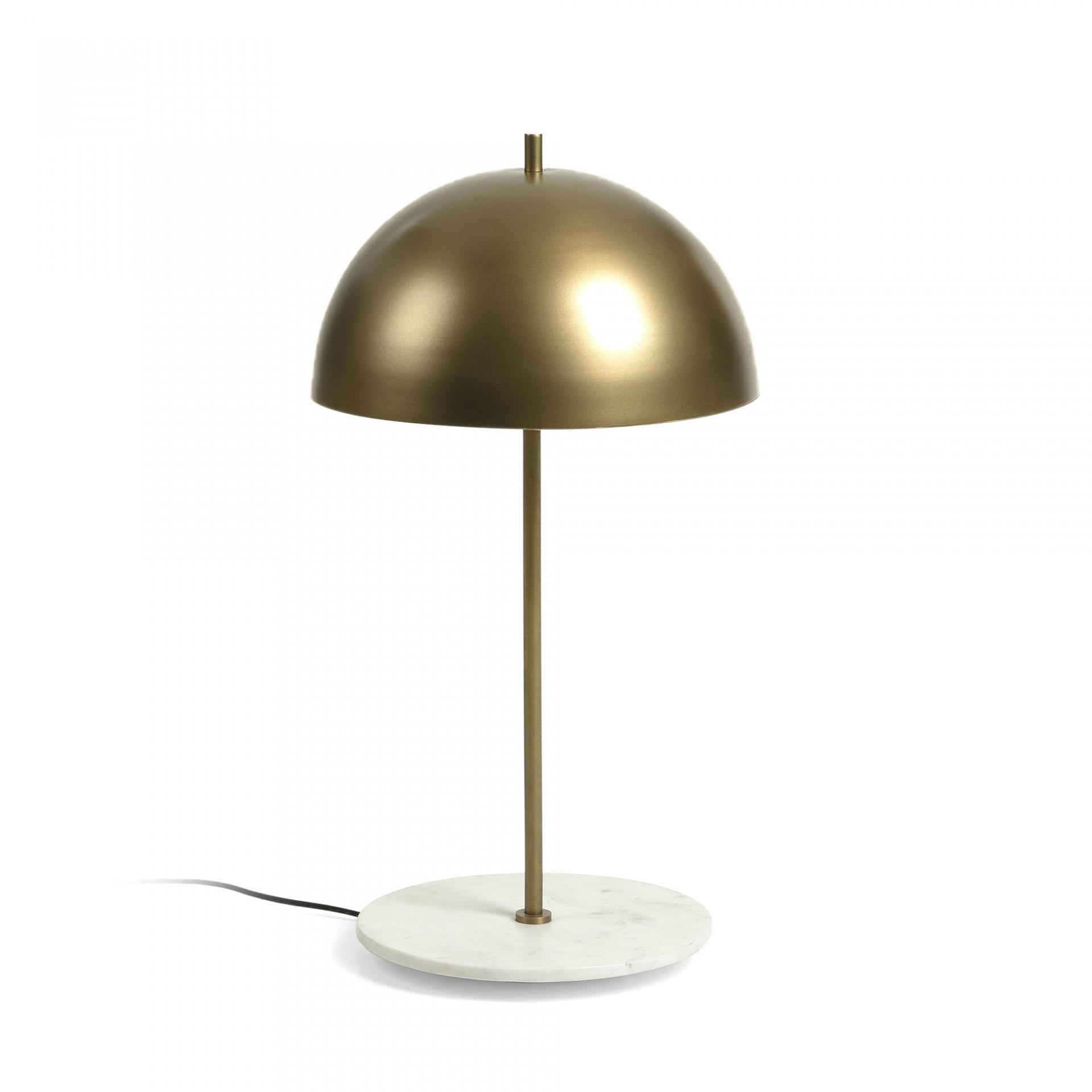 Candeeiro de mesa, metal/mármore, Ø31x60 cm