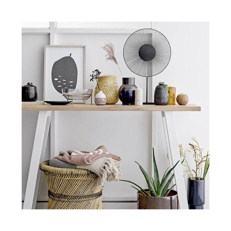 Mesa de apoio em bambú/juta, Ø50x40 cm