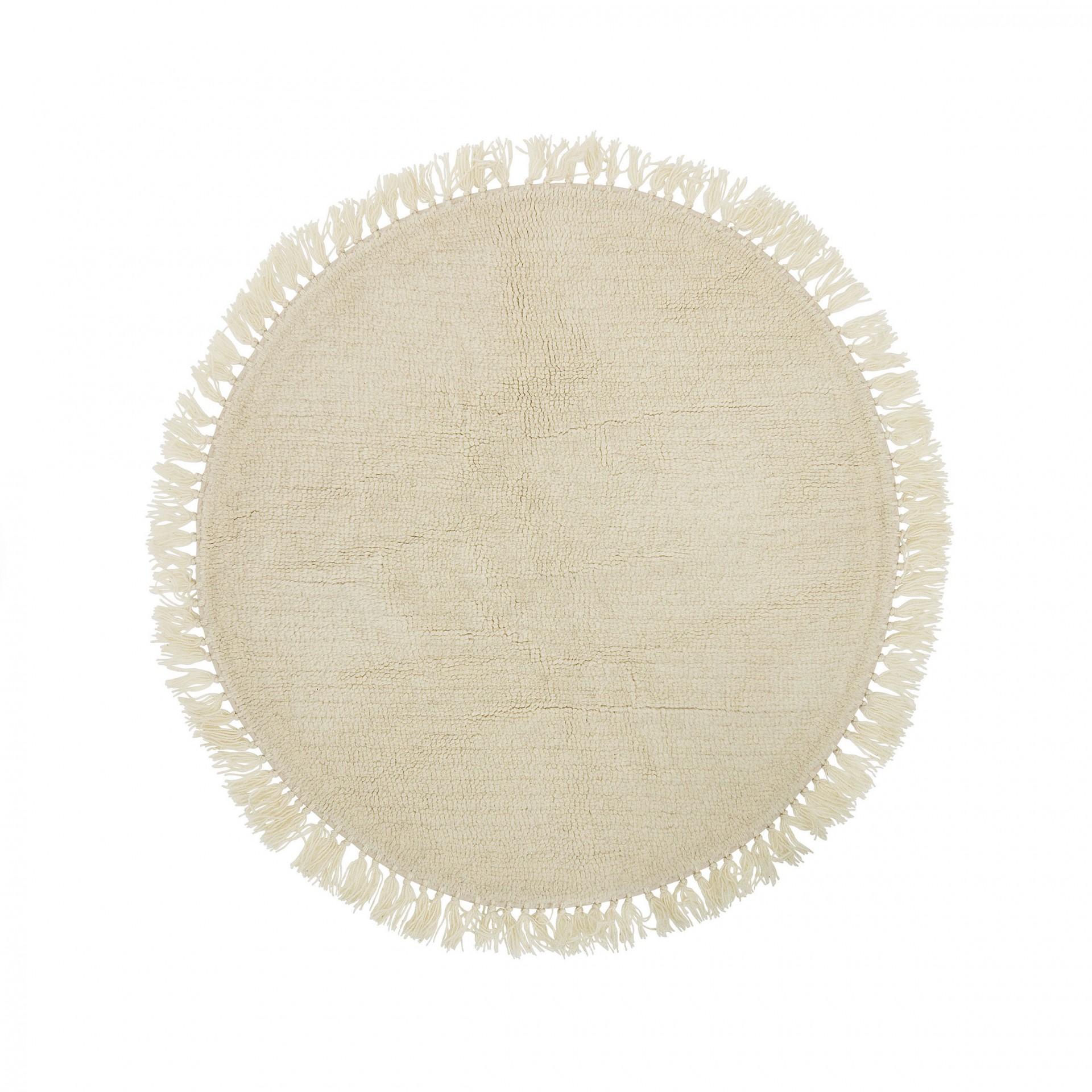 Tapete em lã natural, Ø110 cm