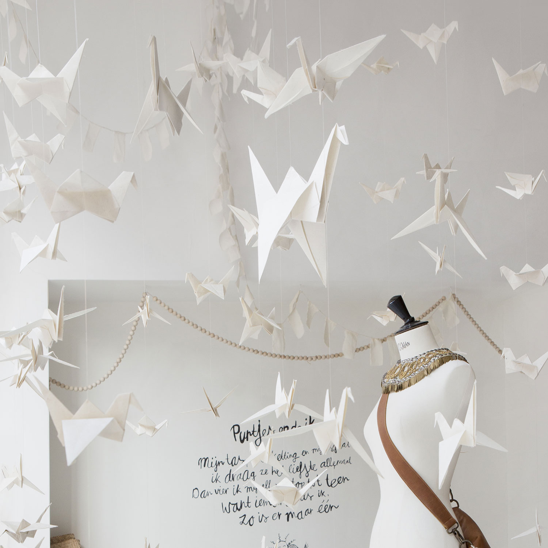 Origami de Tsuru em papel Lokta