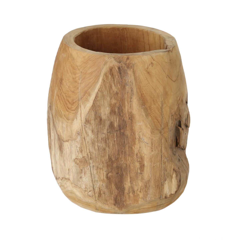 Vaso Oriel, madeira de teca natural, Ø35x40 cm