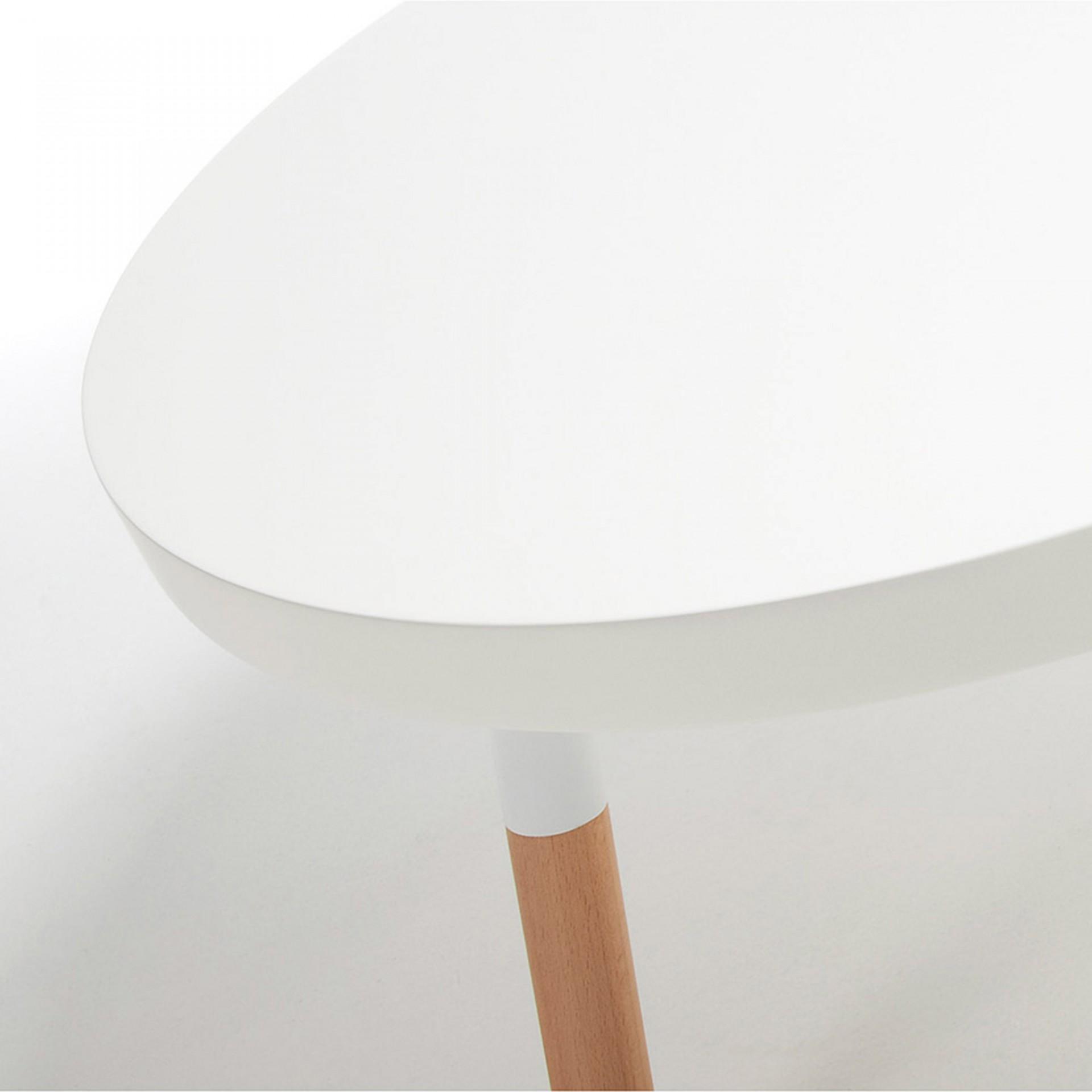 Mesa de centro em madeira faia/MDF lacado, Ø80x45 cm