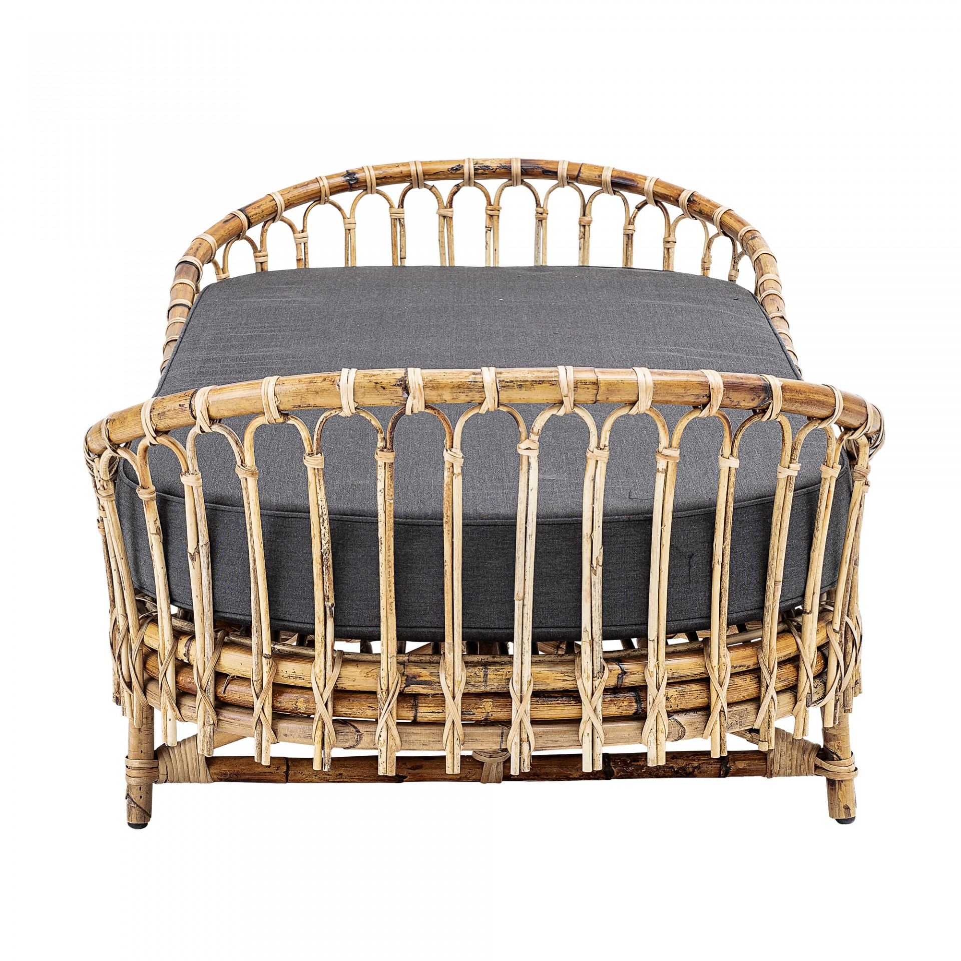 Sofá-cama Madison, rattan natural, 80x185 cm