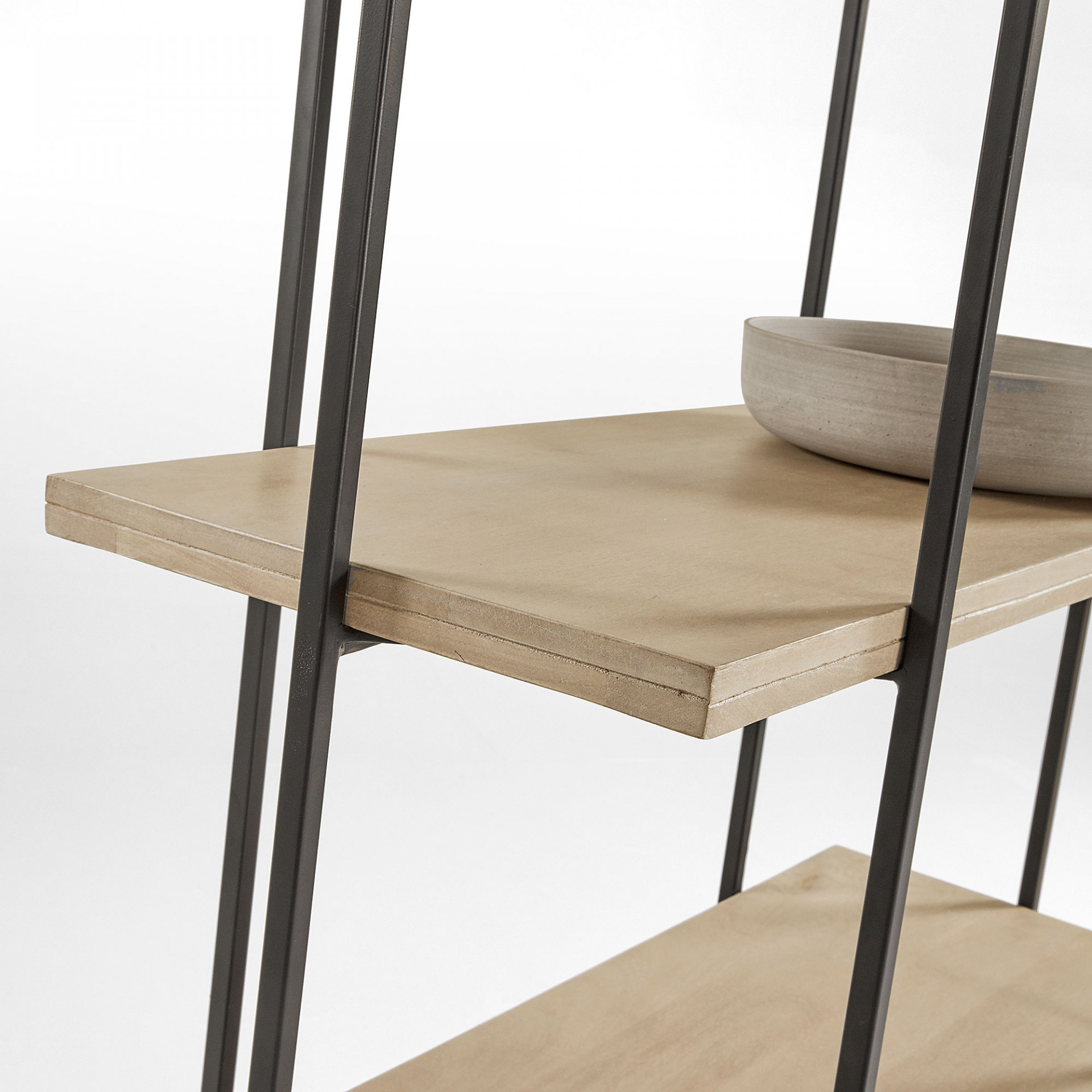Estante Palma, madeira de manga natural, 100x191 cm