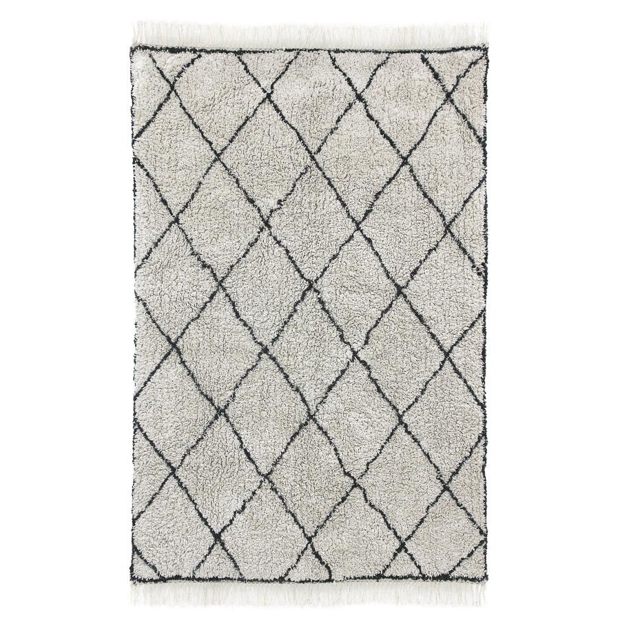 Tapete Berbere, c/franjas, algodão, 120x180 cm