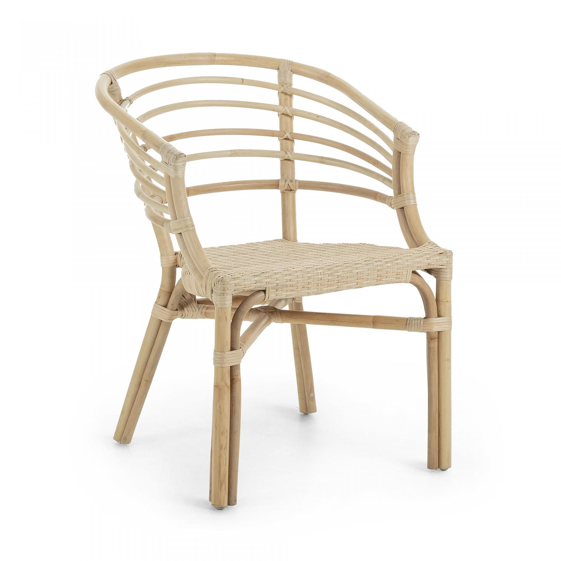 Cadeira c/braços em vime natural